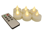 EcoGecko Set of 6 Remote Controlled Flameless LED Tealight Candles