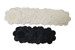 15 Pairs of Flower Pasties Breast Nipple Cover Stick on Bra Disposable-10 Beige Pairs, 5 Black Pairs