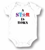 LA Imprints Unisex Baby Attitude Romper Onesie Baby Clothing Diaper Snaps Easy On/Off - A Star Is Born