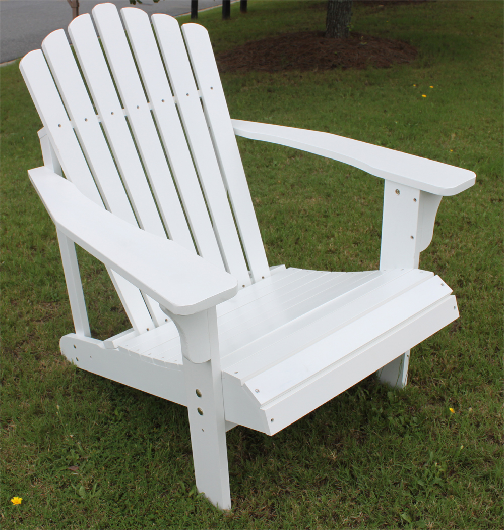 InsideOut Teak Painted Chestnut Oak Adirondack Chair - White at Sears.com