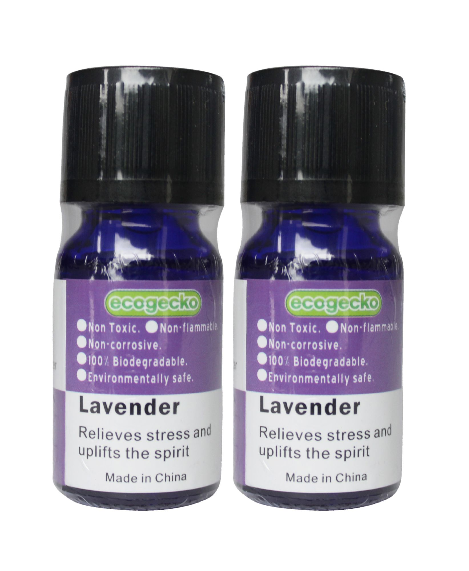 Ecogecko Fragrant Aroma Oil (10 ml) for Water Based Air Revitalizer Air Freshener Oil Diffuser Aromatherapy - Lavender Scent Oil, 2 Pack