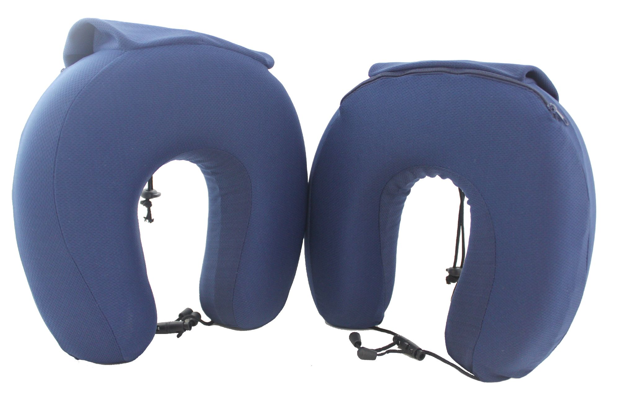 Bolan Pack of 2 Memory Foam Super Comfortable Travel Pillows, Compact, Foldable, Fits Into its Own Attached Small Bag for Planes, Trains and Automobiles.