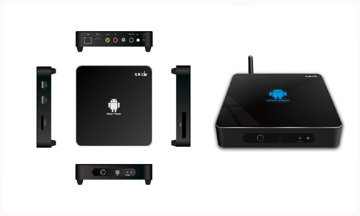 Android 2.3 Google TV Multimedia Player