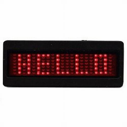 Scrolling LED Name Badge - Red