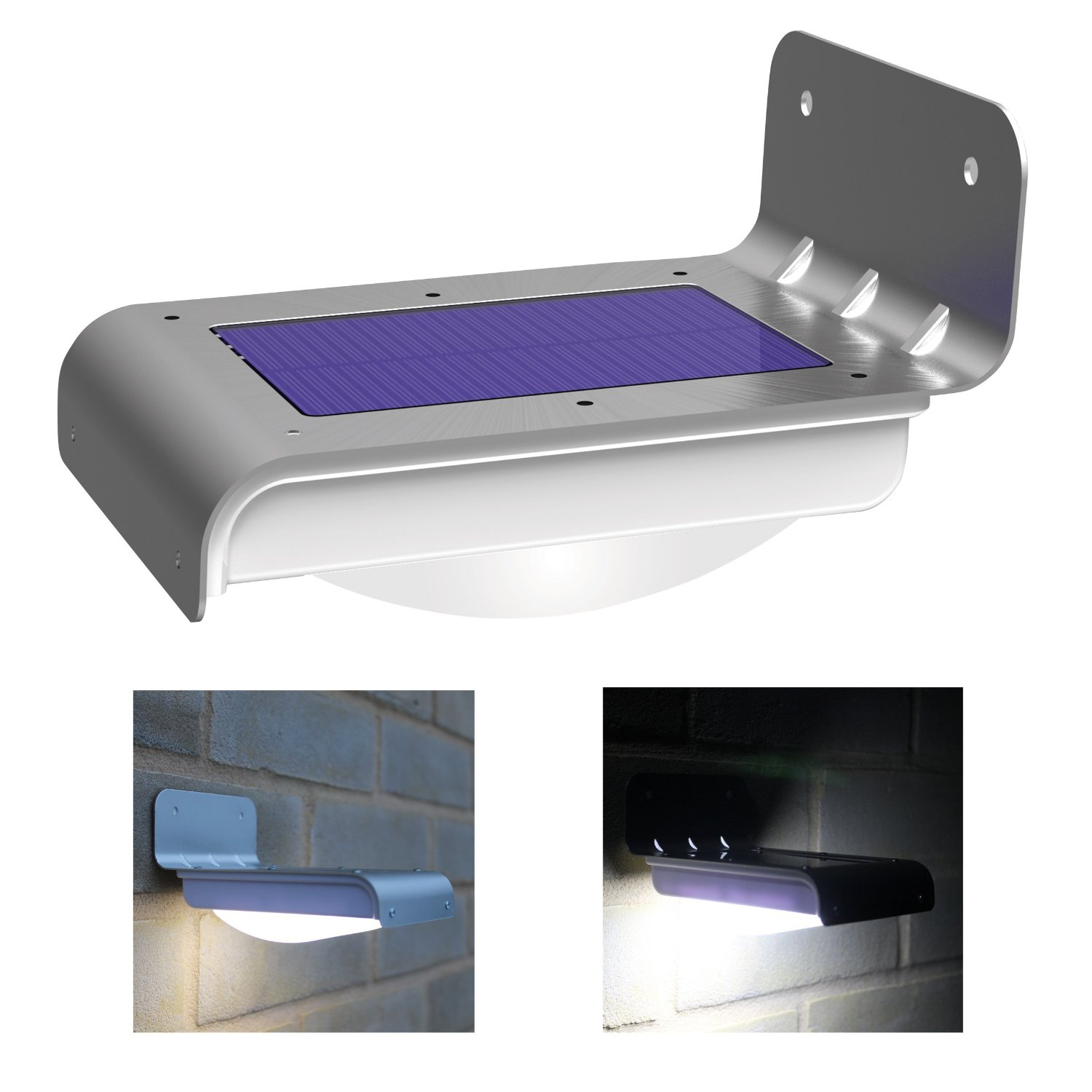 Weatherproof 16 Bright LED Wireless Solar Powered Motion Sensor Light