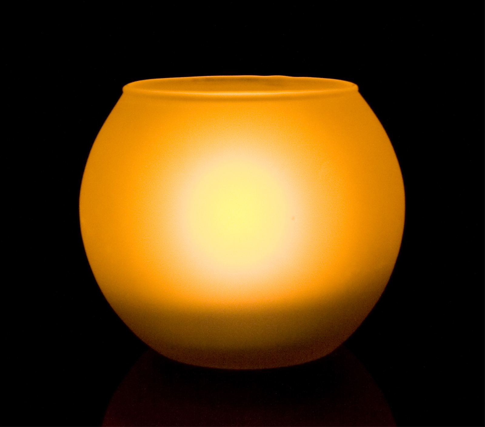 Shake On and Blow Out Flameless LED Candle with Round Frosted Glass Holder