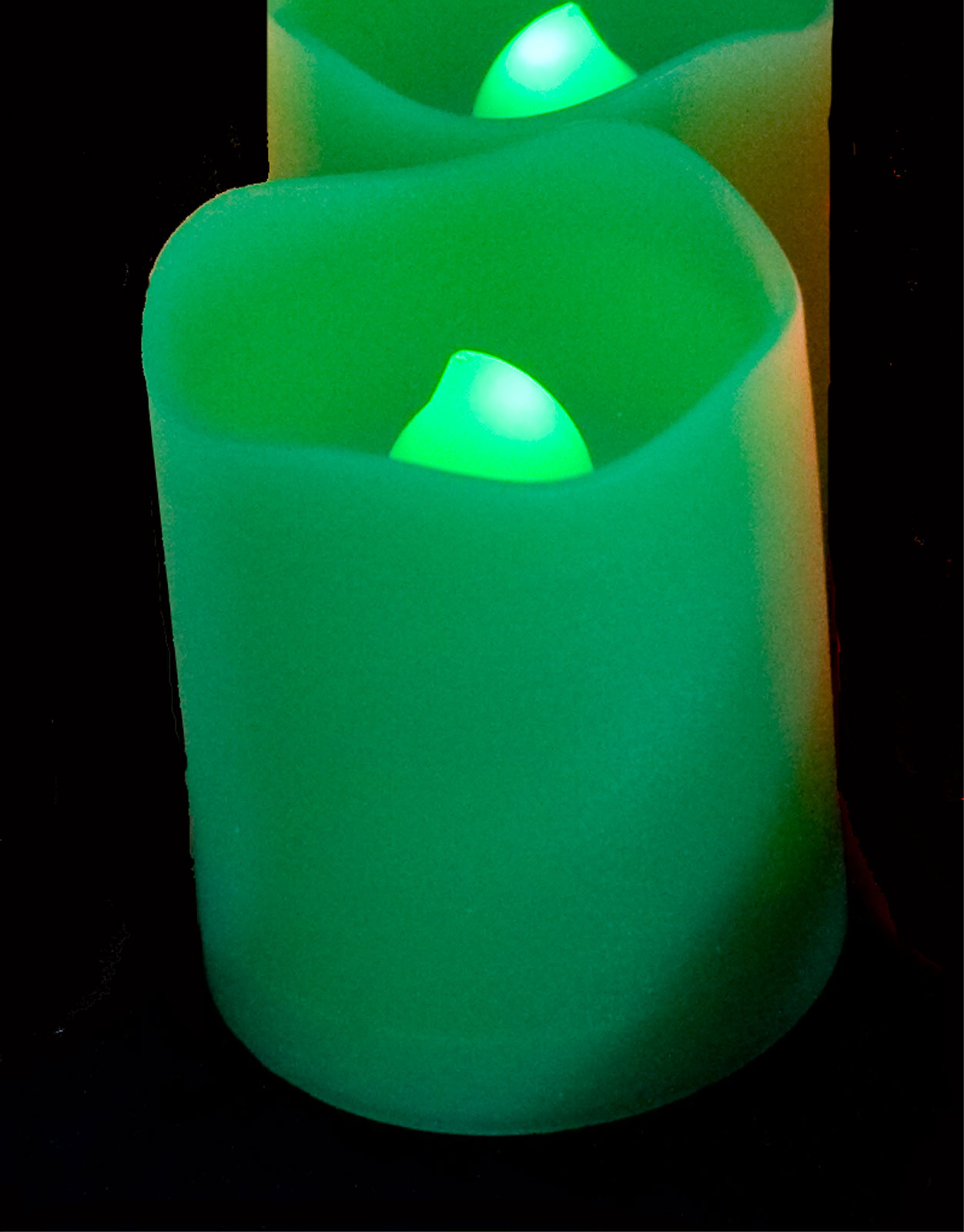 Candle Choice Remote Controlled Round Melted Edge Votive Flameless LED Candle - Set of 12 at Sears.com