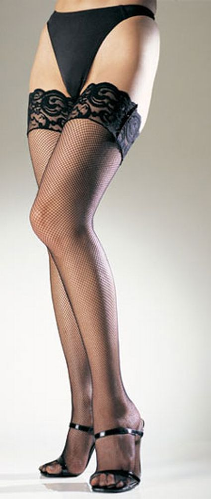 Leg Avenue Lycra Fishnet Thigh High With Stay-Up Lace Top at Sears.com