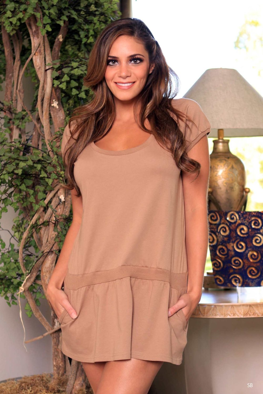 Lovely Day Lingerie Cotton Cocoa Ladies Mini Dress - S/M at Sears.com