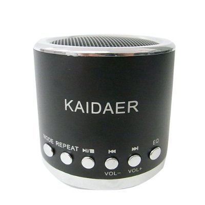 Kaidaer Portable Mini SD USB Speaker With FM Radio for PC Mobile Phone MP3 Player
