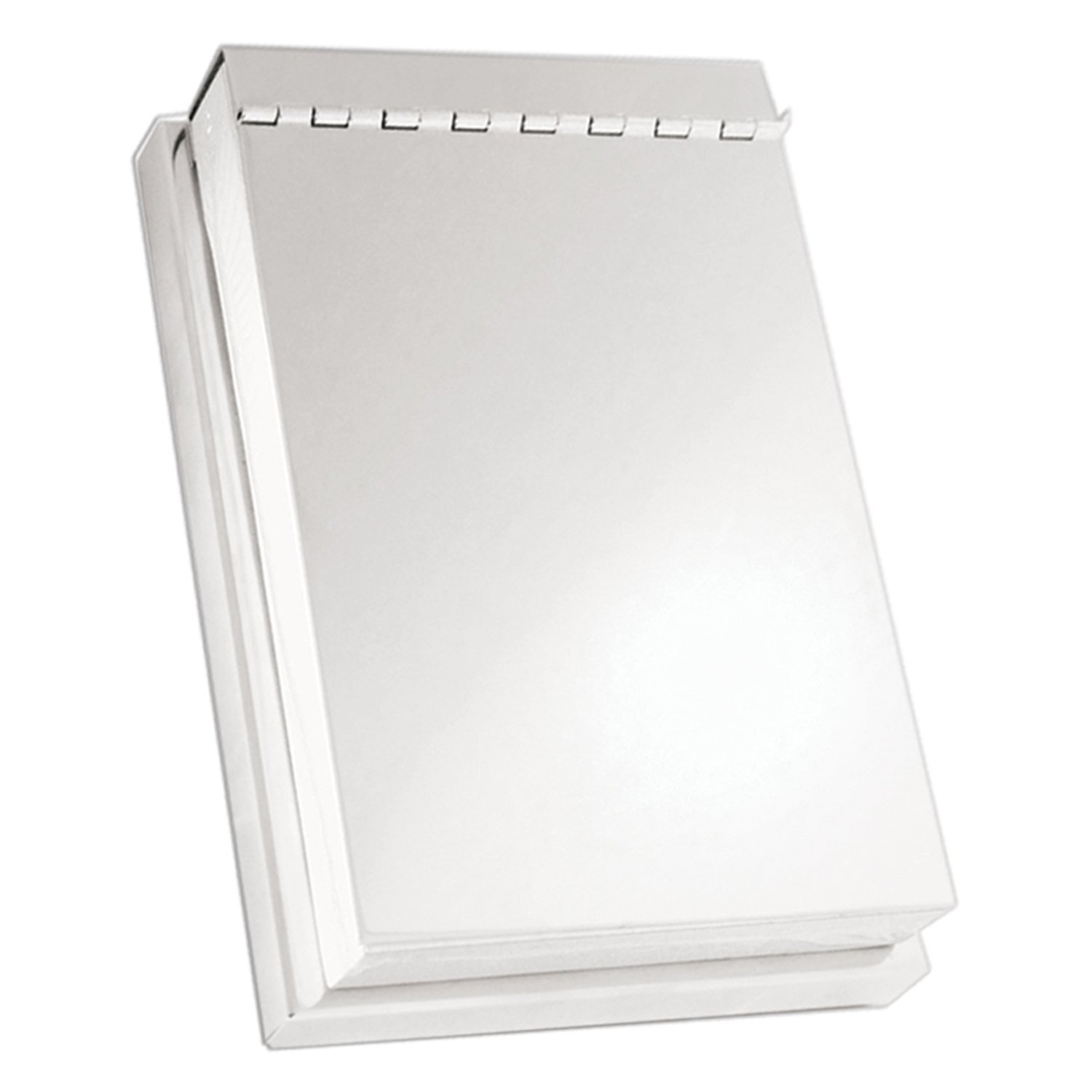 Silver Covered Note Pad Holder with 3x5 Note Pad Included
