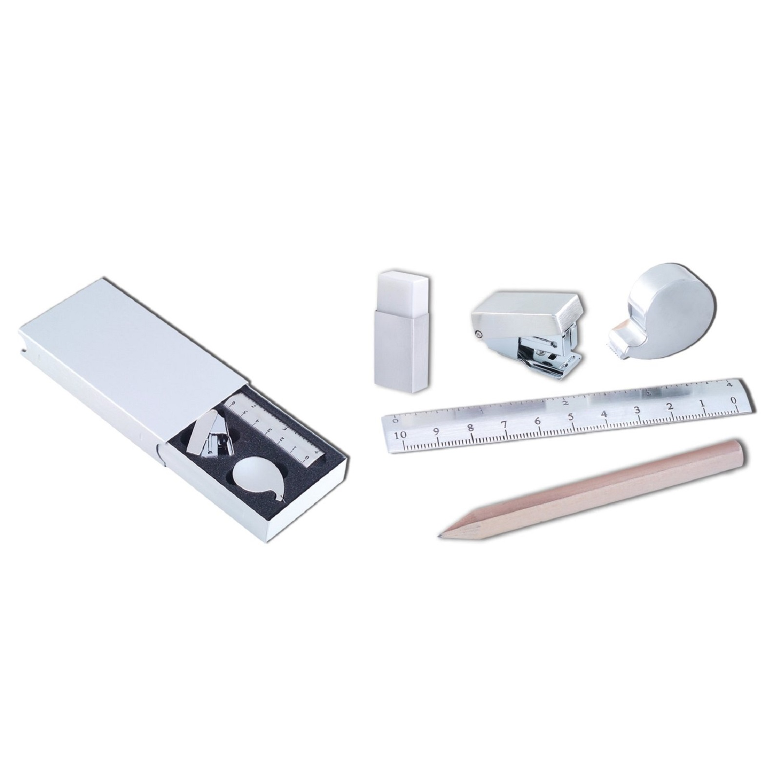 Natico Originals Stainless Steel 5 Piece Mini Stationery Kit