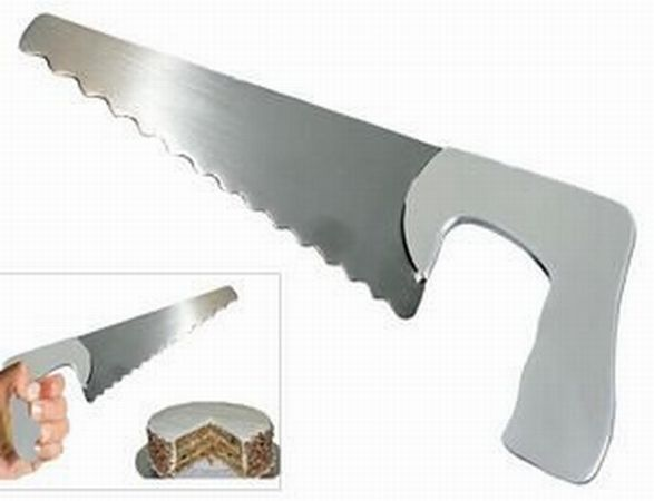 Stainless Steel Saw Shaped Cheese and/or Cake Server
