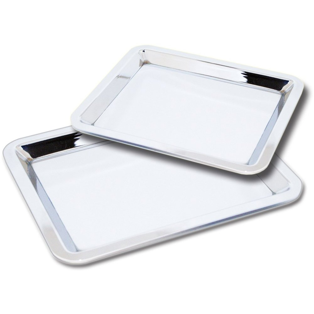 Large Nickel Plated Serving or Trinket Tray (For Dresser or Nightstand)
