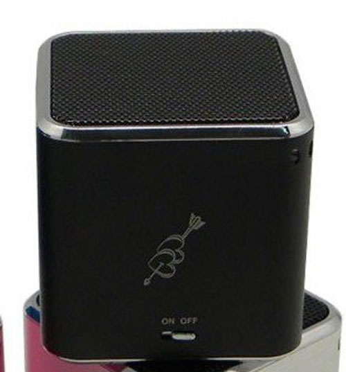Music Angel Mini Size 5x5x5 cm TF Card, Portable Speaker With FM Radio